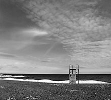 Lifeguard Chair On Kew-Balmy Beach by Gary Chapple