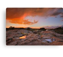 Sunset Puddles Canvas Print