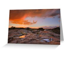 Sunset Puddles Greeting Card