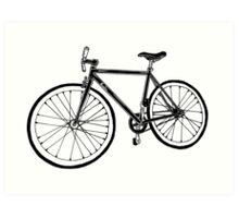 Bicycle Illustration Art Print
