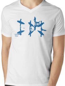 Afternoon Board Meeting (Blue Print) Mens V-Neck T-Shirt