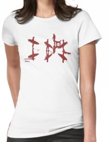Afternoon Board Meeting (Red Print) Womens Fitted T-Shirt