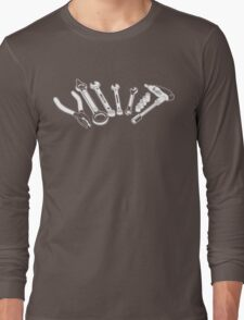 Mechanic Tools Illustration Long Sleeve T-Shirt