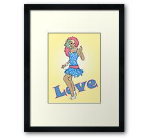 80s Cartoon Pinup Love Framed Print