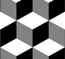 Cube Pattern Black White Grey Sticker