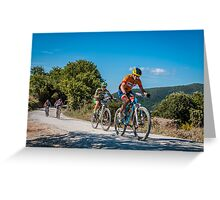 Two Wheels in Tuscany Greeting Card