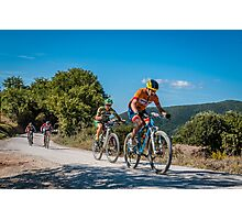 Two Wheels in Tuscany Photographic Print