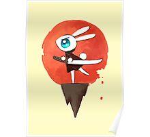 Samurai Bunny Poster