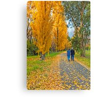 The Poplar Trail Canvas Print