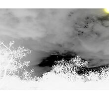 black and white storm Photographic Print