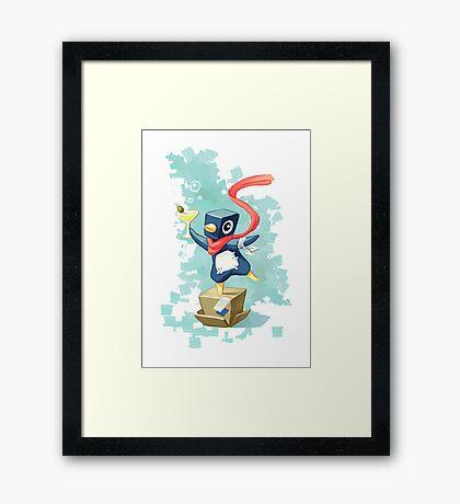 Party Penguin Framed Print