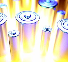Batteries close-up by mypic2sell