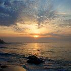 Sennen at sunset by Sally Barnett