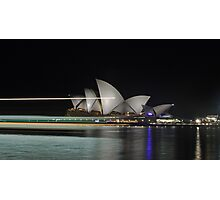 Sydney Opera House by Night Photographic Print