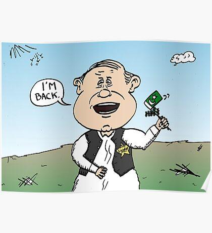 Nawaz Sharif Political Cartoon Poster