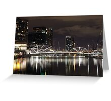 City Lights in Melbourne  Greeting Card