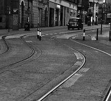 Black Cab on the Rails by Behrouz Jafarnezhad