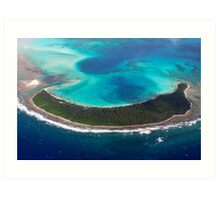 Paradise from Above - Direction Island Art Print