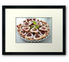 cookie hearts Framed Print