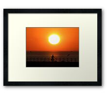Herne Bay Sunset Framed Print