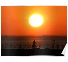 Herne Bay Sunset Poster