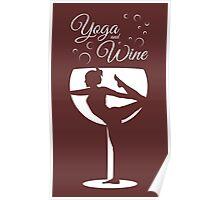 Yoga & Wine Poster