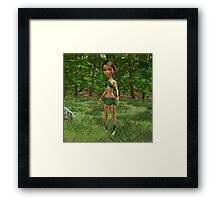 Forest Elf Girl Framed Print