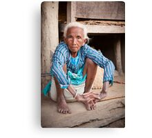 Tharu elder Canvas Print