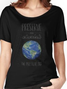 Pale Blue Dot Women's Relaxed Fit T-Shirt