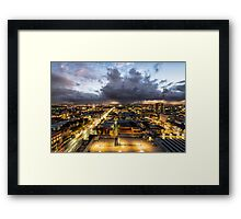 Roof Top Storms - Adelaide, South Australia Framed Print