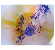 Ink swirls and splotches Poster
