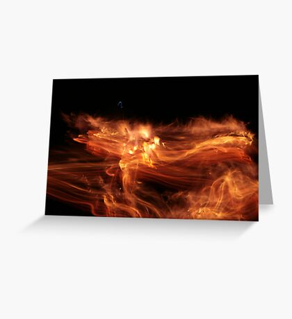 Smudged fire Greeting Card