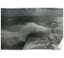 Brighton sea waves Poster