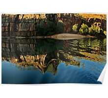 Sandy Spot with Flowing Reflections Poster