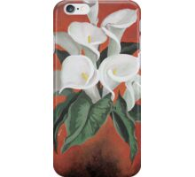 Calla Lilies On A Red Background iPhone Case/Skin