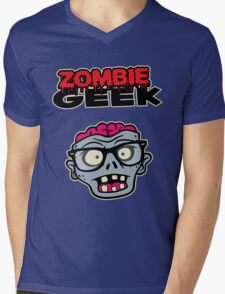 Zombie Geek Mens V-Neck T-Shirt