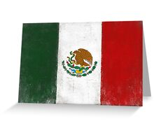 Distressed Greeting and Postcard with Mexico Flag Greeting Card