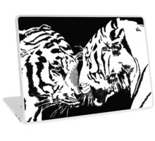 tigers meet Laptop Skin