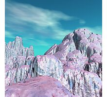 Pink Hills with Blue Sky Photographic Print