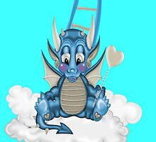 Cute Dragon .. iPhone case by LoneAngel