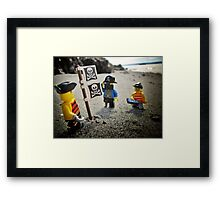 Claiming the new secret beach Framed Print