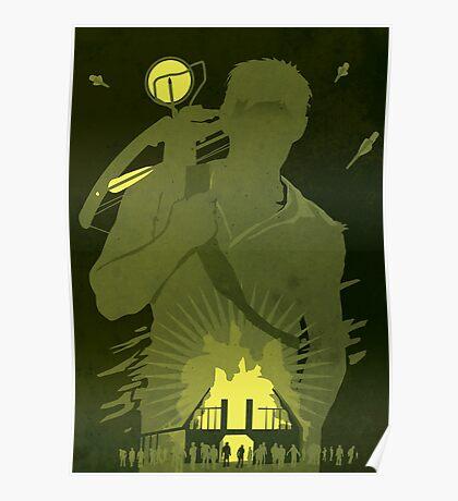 The Walking Dead Satirical Fan Art - Daryl Poster