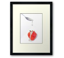 Strawberry and Cream Framed Print