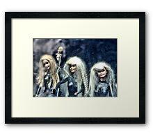 Three Barbies Framed Print