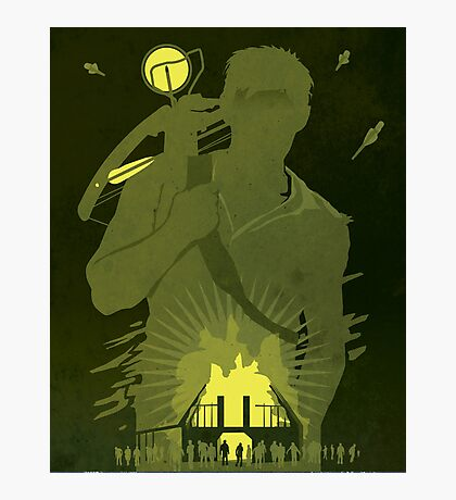 The Walking Dead Satirical Fan Art - Daryl 8x10 Photographic Print