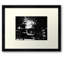 P.Coates- Mirror pond Framed Print