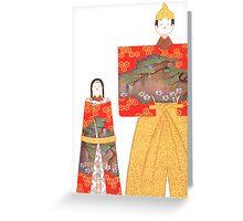 japenese dolls Greeting Card