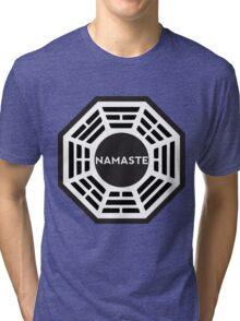 NAMASTE  - Dharma logo Tri-blend T-Shirt
