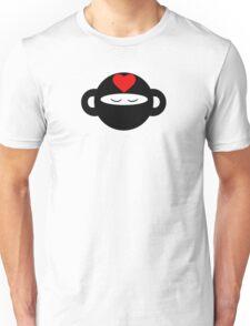 Meditating Ninja Love Monkey Unisex T-Shirt