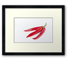 Trio of hot Chillies Framed Print